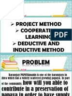 project method, cooperative learning, deductive and inductive method