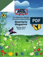 ABTA Quarterly Spring 2015