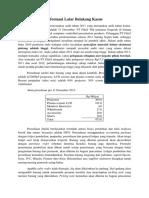 Analisis Kasus PT Fiktif Tbk