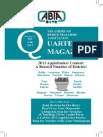 209 ABTA Quarterly Fall 2013