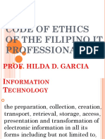 Codes of ethics for fourth year IT students
