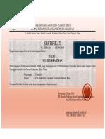 Contoh sertifikat apar