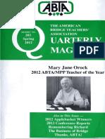 203 ABTA Quarterly Spring 2012