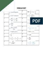 Formular Sheet
