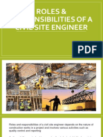Roles and Responsibilities of Site Engineer