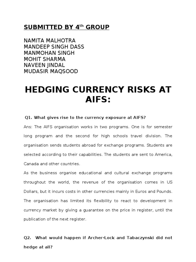 hedging currency risks at aifs pdf