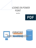 Animaciones en Power Point