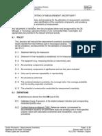 Measurement uncertainty procedure