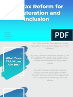 The Tax Reform for Acceleration and Inclusion