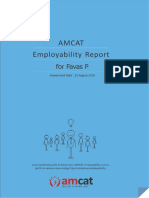 Employability report and personality development