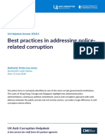 Best Practices in Addressing Police Related Corruption
