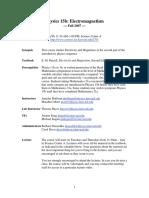 2007 Fall Physcs15b Syllabus