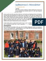 Newsletter No 84 - 27th September 2019
