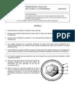 Examen de biologia 2007 modelo 1 selectividad
