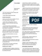 Principles of Management of Altered Acute Biologic Crisis