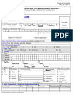 TESDA Assessment Application Form