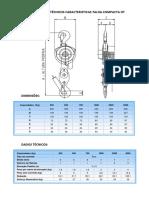 Dimensional talhas pneumaticas