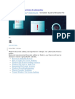 Complete Guide to Windows File System Auditing