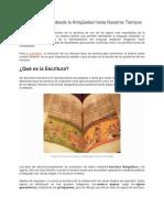 Tipos de Escritura desde la Antiguedad hasta Nuestros Tiempos.docx