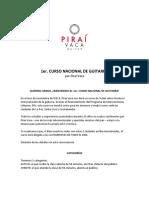 Curso Nacional de Guitarra 2019 PDF