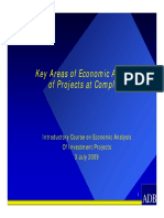 Key Areas Economic Analysis Projects Completion 2009