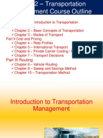 Chapter 1 - Introduction to Transportation Management