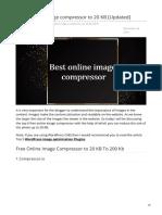 Online Image Compressor to 20 KB