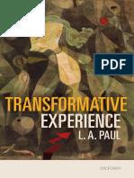 Paul, Laurie Ann - Transformative Experience