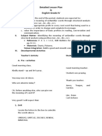 Detailed Lesson Plan in English Grade V