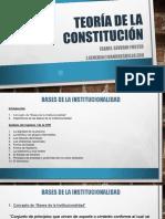 TEORIA DE LA CONSTITUCIÓN Bases de la Institucionalidad capítulo I