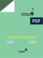 Qué es la traducción?
