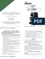 manual BATIDORA oster FPSTSM5101 FPSTSM5102