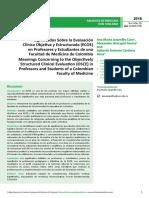 Significados Sobre La Evaluacioacuten Clnica Objetiva y Estructurada Ecoe en Profesores y Estudiantes de Una Facultad de Medicina