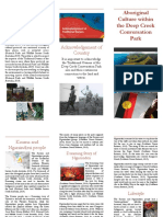 aboriginal cultural brochure