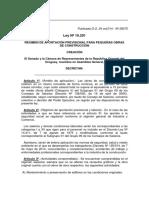 Ley19291 Obras de Menor Cuantia -Aporte Unificado de La Construccion