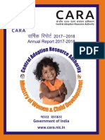 Annual Report of CARA for 2017-2018 (English)