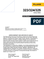 Operation Manual-Fluke 325 Clamp on Meter