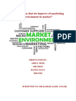 Who is type that do improve of marketing environment in market