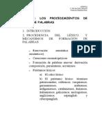 procedimiento de vocablo guarani