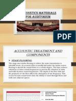 Accoustics materials for auditorium.pptx