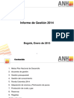 Informe ANH