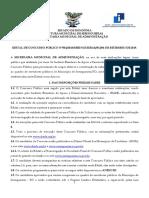 Edital Prefeitura de Seringueiras Publicado 090919