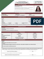 Bea Near Oliva - Application Form