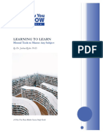 Learning To Learn [Mental Tools To Master Any Subject].pdf