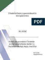 Tarjeta Mercantil Invitación Arequipa