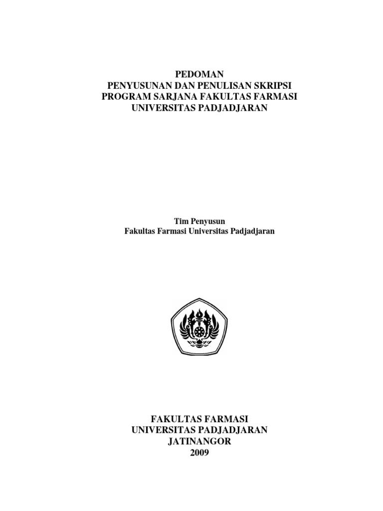 Pedoman Penyusunan Dan Penulisan Skripsi Program S1 Fakultas Farmasi Unpad Pdf
