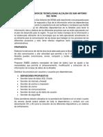 propuesta de inclusión de tecnología para la alcaldía de san antonio