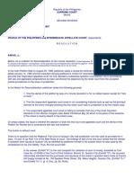Que vs PP (09 21 1987), Mendiola vs CA (Equity), Gonzalez vs Gonzalez (in Case of Doubt)