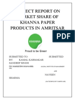 Projec Report on Khanna Paper Mill