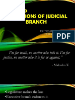 Function of Judicial Branch